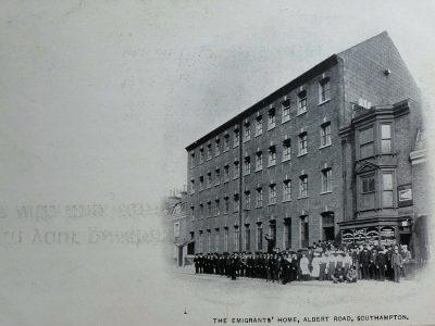 19th century postcard of the Emigrants Home, Southampton.